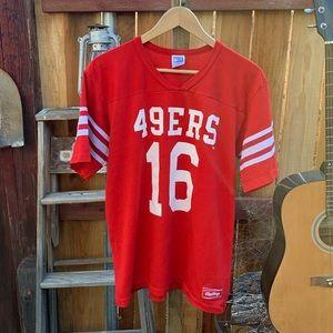 Vintage 49ers Rawlings jersey shirt.